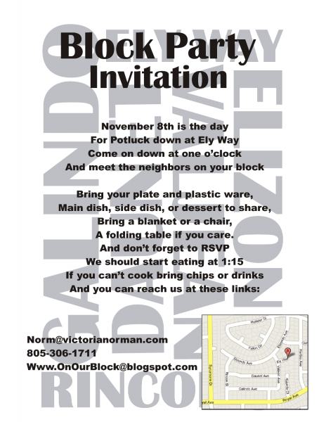 Chalkboard Invitation Template Free New Block Party Invitation