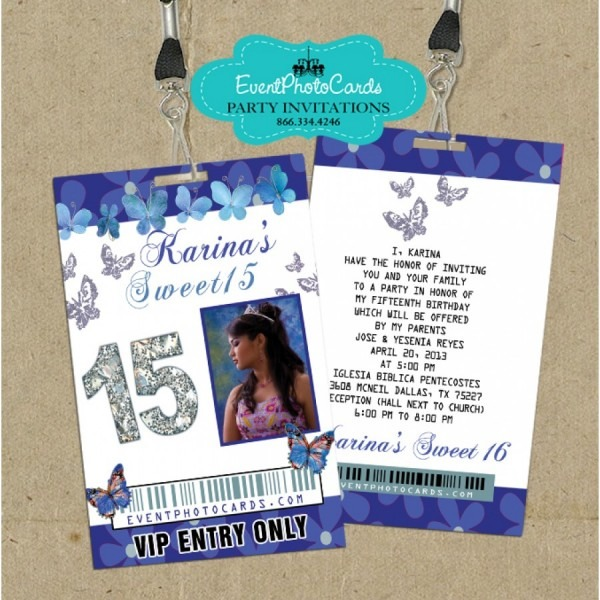Blue Butterfly Vip Pass Invites