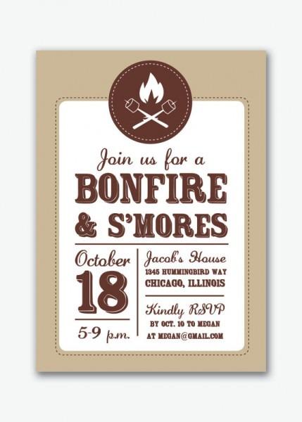 Bonfire Chalkboard Ticket Invit Fresh S More Party Invitation