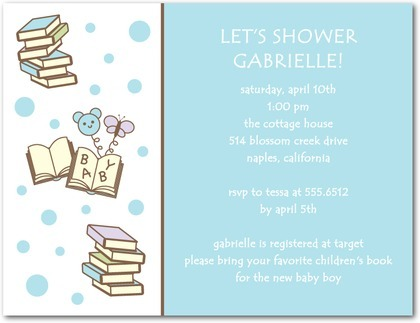Book Themed Baby Shower Invitations Book Themed Baby Shower