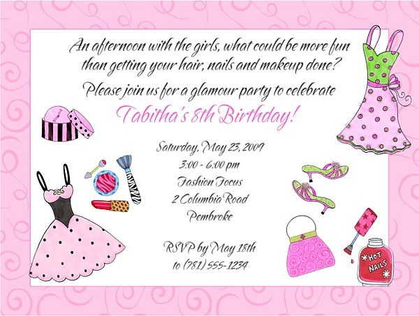 Glamour Girl Makeup Party Birthday Invitation Amazing Makeup Party