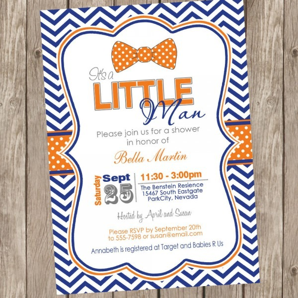 Bow Tie Baby Shower Invitations Bow Tie Baby Shower Invitations