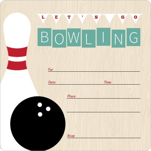 Bowling Themed Invites Archives