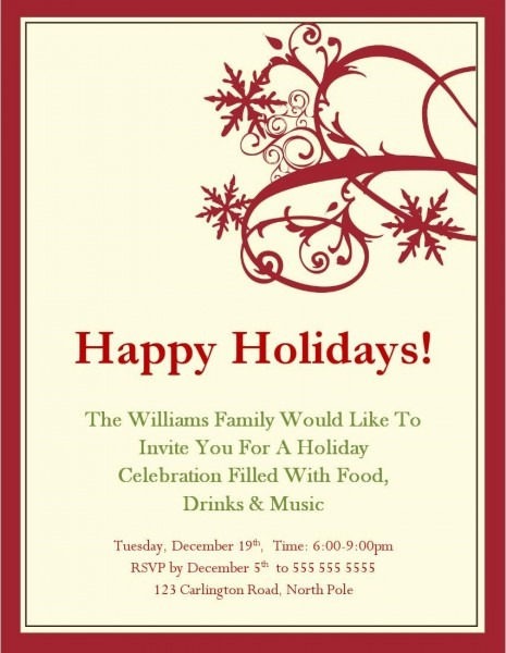 Party Invitations  Free To Use Christmas Party Invitation