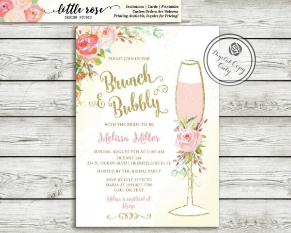 Bridal Shower Brunch Invitations Bridal Shower Brunch Invitations