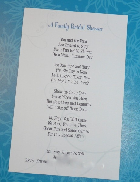 Bridal Shower Invitation Poem Writing A Wedding Ideas