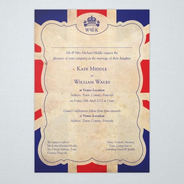 Britannia Union Jack Wedding Invitations