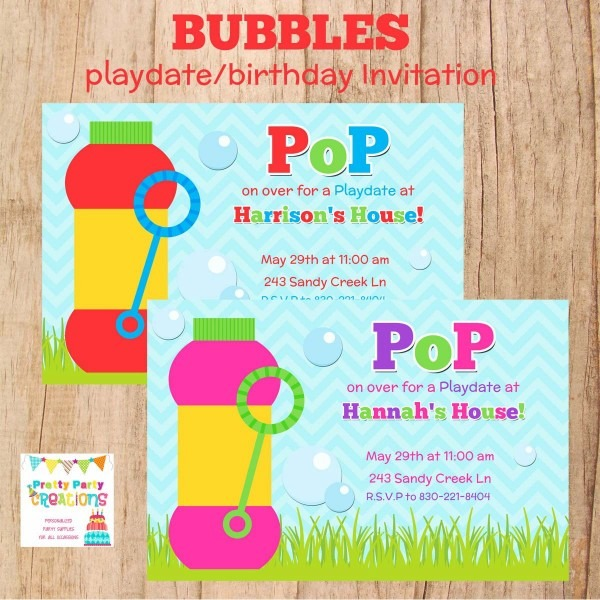 Play Date Invitation Wording