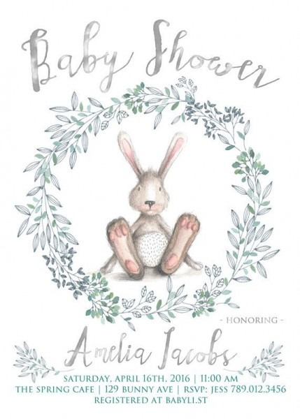 Bunny Baby Shower Invitations Free
