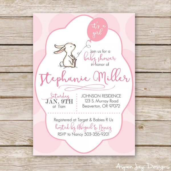 Bunny Baby Shower Guest Book Printable