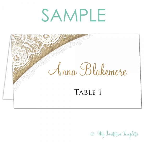 Place Card Samples Archives