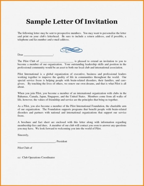 Business Event Invitation Letter Template Business Lunch