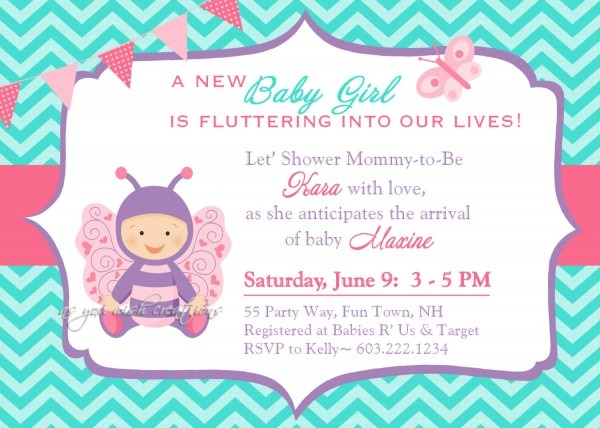 Butterfly Baby Shower Invitations Butterfly Baby Shower