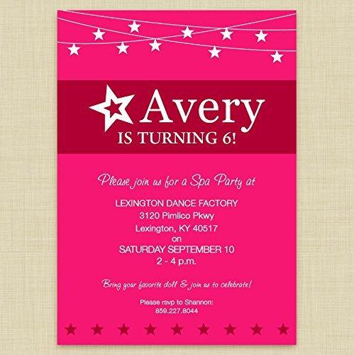 Bykfkq Fresh American Girl Doll Party Invitations