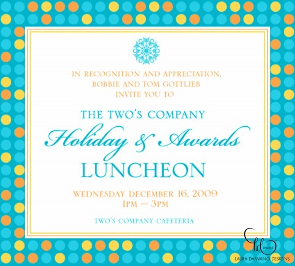 Twos Company Holiday Luncheon Invitation