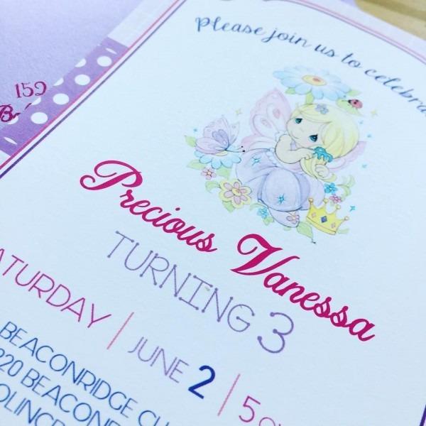 Precious Moments Birthday Invitations