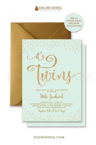 13+ Baby Shower Invitations Twins