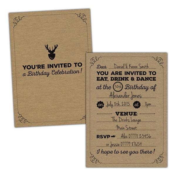 C Nice Vintage Birthday Invitations