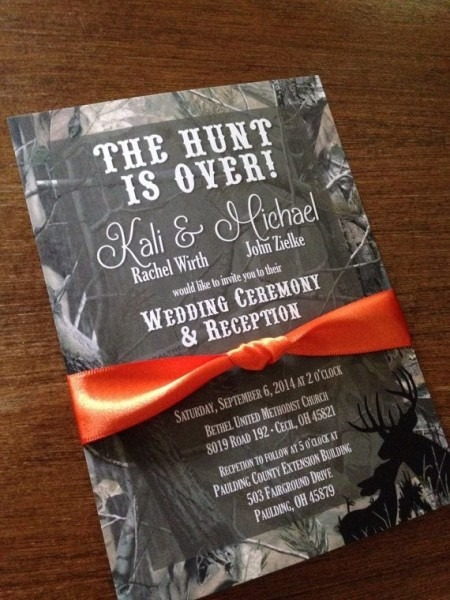 Wedding Invitations Hint Of Camo – Omg Invitation
