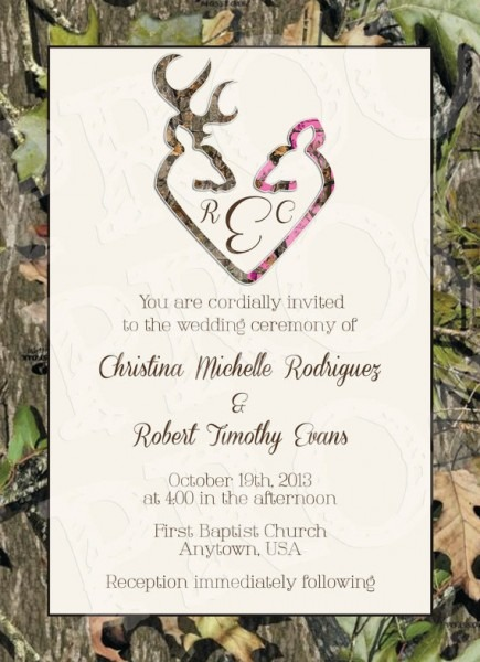Camouflage Wedding Invitations Camouflage Wedding Invitations By