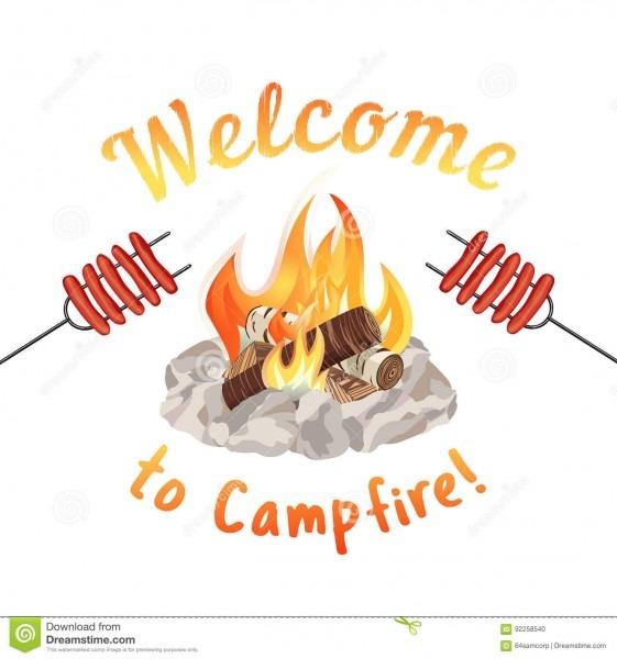 Campfire Icon Concept Stock Vector  Illustration Of Barbecue