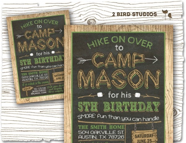 Camping Party Invitations Camping Party Invitations As Fetching