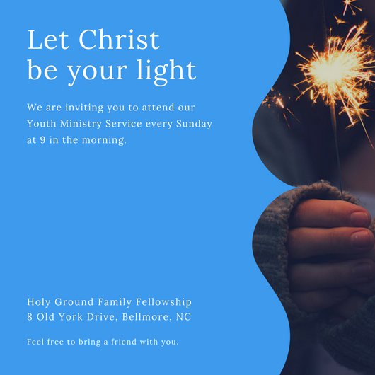 Invitation For Church Service