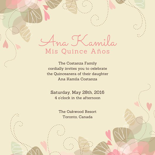 Invitations Quinceanera