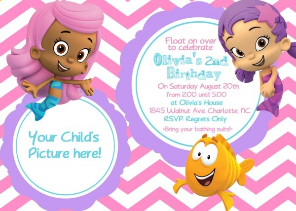 Card Birthday Invitation Template For Kids Latest Sample Printable