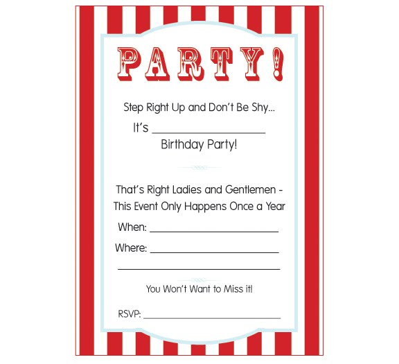 Carnival Circus Party Week Fre Good Free Circus Birthday