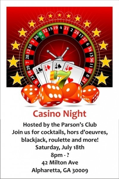 Casino Theme Party Invitations Template Free Elegant With Casino