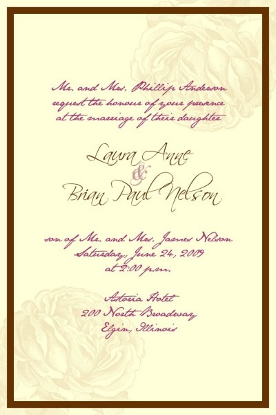 Wedding Invitations Examples Tex With Wedding Invitation Wording