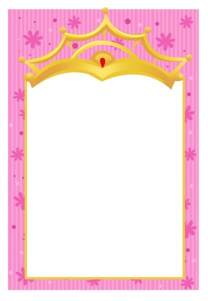 Free Printable A Little Princess Invitation Another Free Template