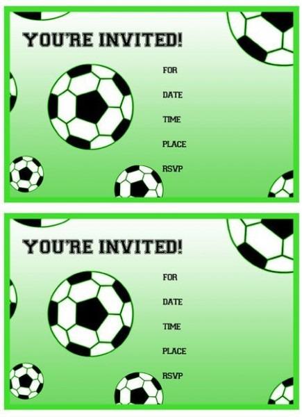 Cbfcbecdd Fancy Soccer Themed Birthday Party Invitations