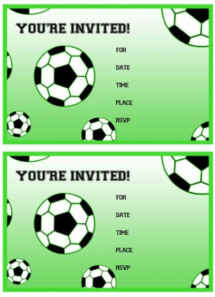 Football Birthday Party Invitations To Get Ideas How To Make Your