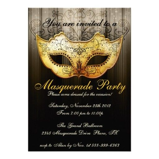 Fbeafccf Fresh Masquerade Invitations Template