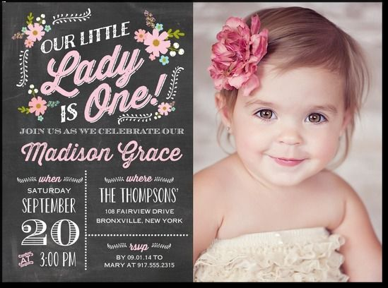 St Birthday Invitation Card For Baby Girl Online Free Invitations