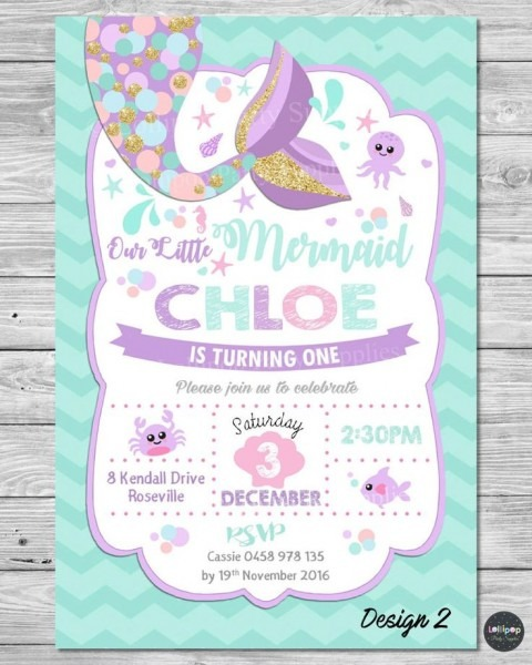 Cebfbcaeceaedbddfb Little Mermaid Birthday Party Invitations