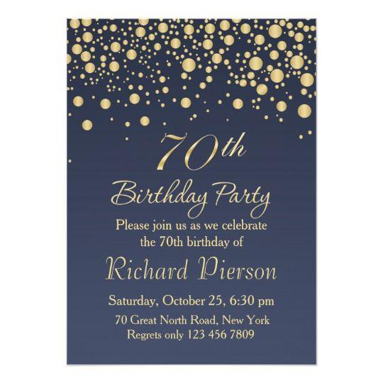 Pmw Trl Simple 70th Birthday Invitation Templates Free