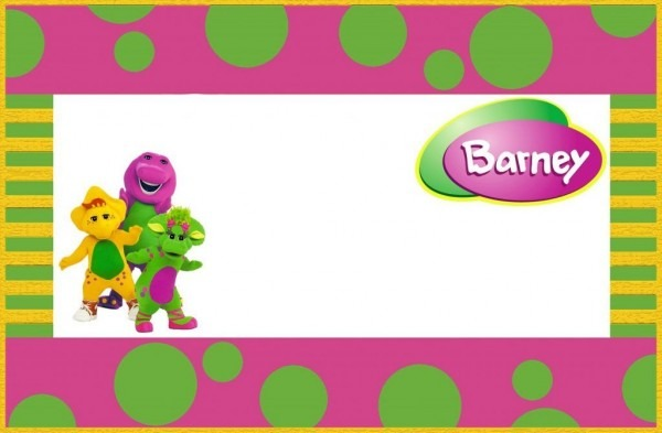 Ceffabbece Perfect Barney Invitation Template
