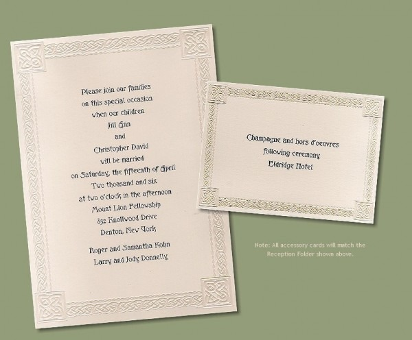 Celtic Wedding Invitations Celtic Wedding Invitations Astonishing