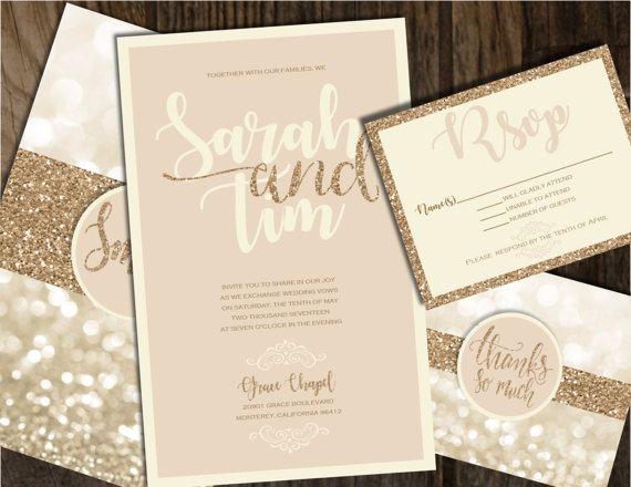 Champagne Wedding Invitations Champagne Wedding Invitations
