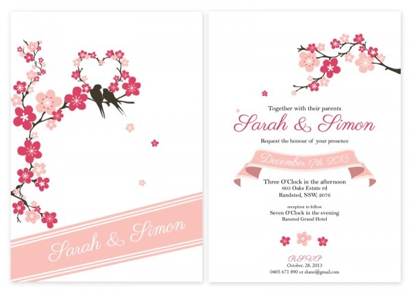 Bceebcfbebfaa Perfect Cherry Blossom Invitation Template Free