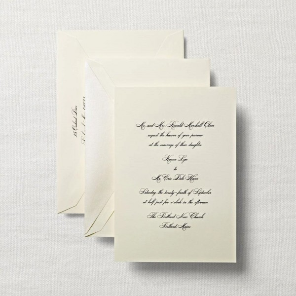 Chic Engraved Wedding Invitations Hand Engraved Ecruwhite Royalty