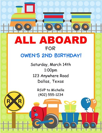 Choo Choo Train Birthday Epic Train Birthday Party Invitations