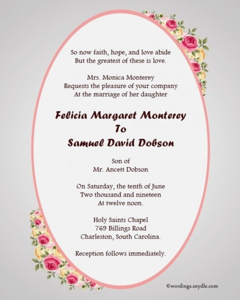 30 Concept Christian Wedding Invitation Wording Outstanding – Co