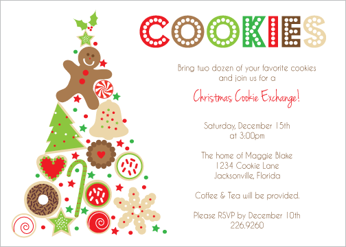 Invitation Ideas  Cookie Swap Party Invitations Templates