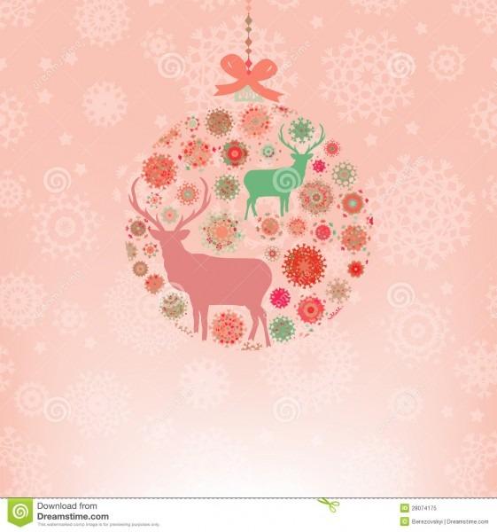 Christmas Invitation Card Template  Eps 8 Stock Vector