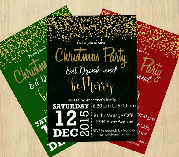 Christmas Invitation Templates Free Download Good With Christmas
