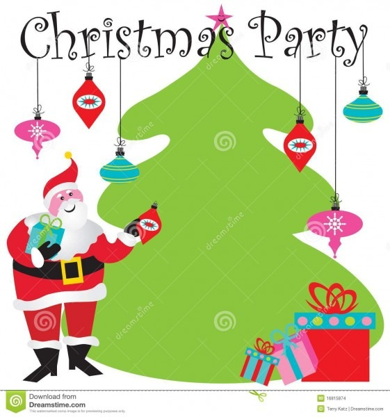 Christmas Party Invitation Stock Vector  Illustration Of Holiday